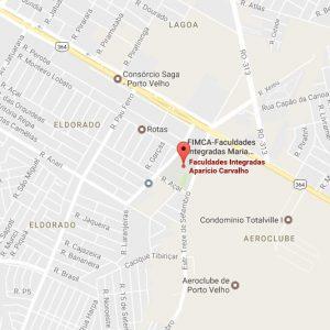 Localização Fimca  e Metropolitana Porto Velho-RO